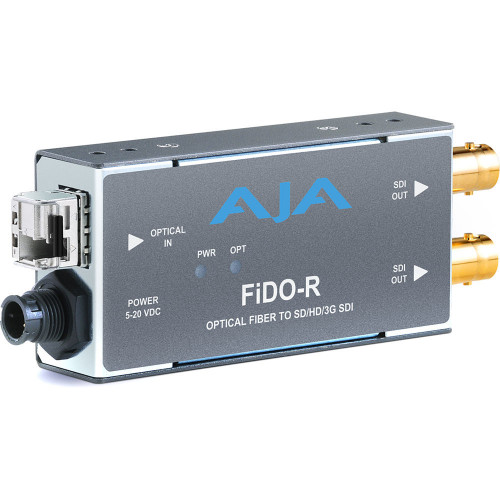 FIDO-R-MM приемник видеосигнала AJA 1-Channel Multi-Mode LC Fiber to 3G-SDI Receiver
