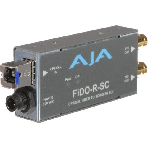 FIDO-R-SC Конвертер / преобразователь AJA FiDO Single-Channel SC Fiber to 3G-SDI Mini Converter