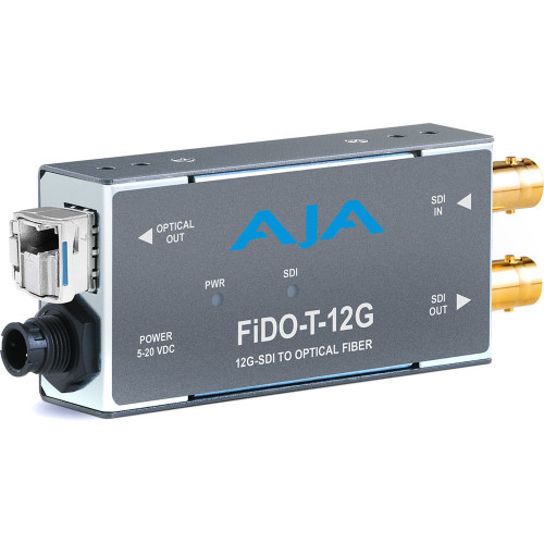 FIDO-T-12G передатчик видеосигнала AJA 1-Channel 12G-SDI to Single-Mode LC Fiber Transmitter