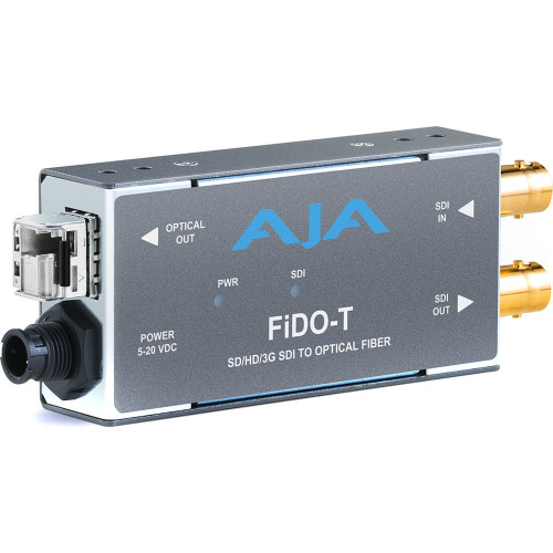 FIDO-T-MM передатчик видеосигнала AJA 1-Channel 3G-SDI to Multi-Mode LC Fiber Transmitter