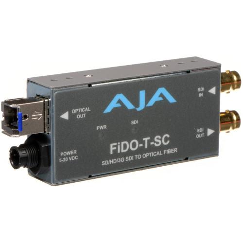FIDO-T-SC Конвертер / преобразователь AJA FiDO Single-Channel 3G-SDI to SC Fiber Mini Converter