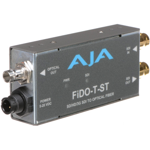 FIDO-T-ST Конвертер / преобразователь AJA FiDO Single-Channel 3G-SDI to ST Fiber Mini Converter