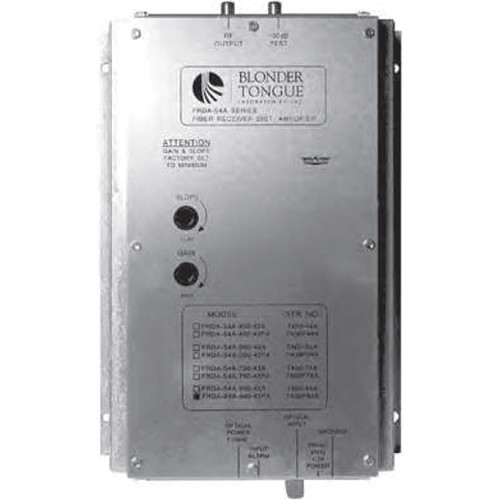 FRDA-S4A-860-SA приемник видеосигнала BLONDER TONGUE Fiber Optic Receiver and RF Distribution Amplifier