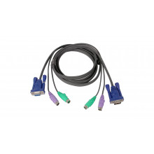 G2L5003P KVM кабель Iogear Micro-Lite Bonded All-in-One KVM Cable, 10 ft. , PS/2