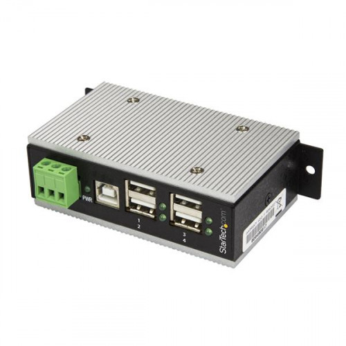 HB20A4AME USB-концентратор (хаб) STARTECH 4-Port Industrial USB Hub - USB 2.0 - 15kV ESD Protection