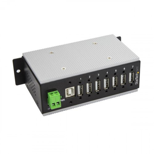 HB20A7AME USB-концентратор (хаб) STARTECH 7-Port Industrial USB Hub - USB 2.0 - 15kV ESD Protection