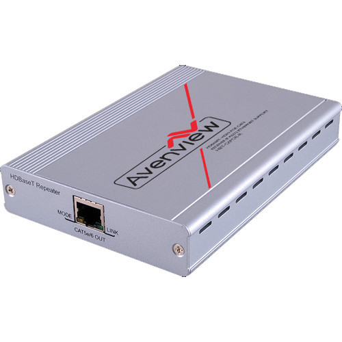 HBT-C6POE-EX Видео удлинитель/репитер AVENVIEW HDBaseT CAT5/6/7 Repeater with PoE/LAN/RS-232/ Bi-Directional IR up to 328'