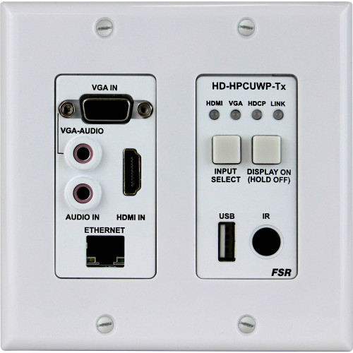 HD-HPCUWP-TX передатчик видеосигнала FSR HDMI/PC/USB over HDBaseT 2-Gang Wall Plate Transmitter (330')
