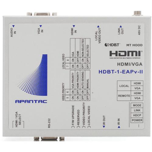 HDBT-1-EAPV-II Видео удлинитель/репитер APANTAC Switchable VGA or HDMI HDBaseT Extender with IR, RS232