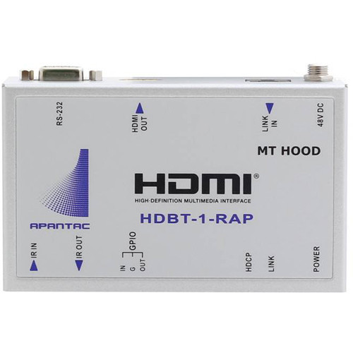 HDBT-1-RAP приемник видеосигнала APANTAC Single-Port HDBaseT HDMI Receiver with IR, RS232, GPI and Assignable POE