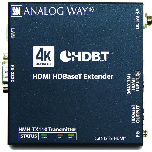 HMH-TX110 передатчик видеосигнала ANALOG WAY HDMI HDBaseT 4K Extender Transmitter with HDCP 2.2