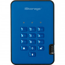 IS-DA2-256-2000-BE Защищенный Жесткий диск ISTORAGE 2TB diskAshur2 USB 3.1 (Ocean Blue)