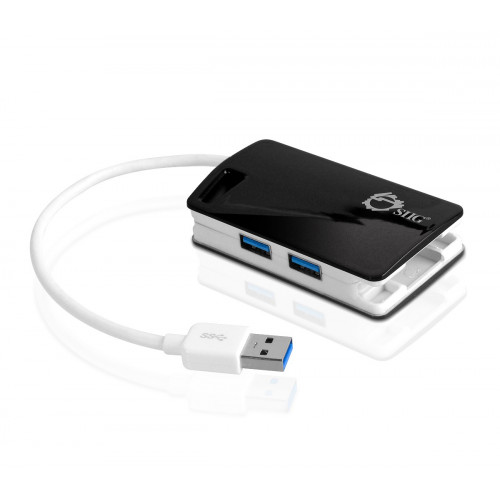 JU-H30112-S1 Концентратор SIIG SuperSpeed USB 3.0 LAN Hub - Type-C Ready