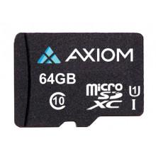MSDXC10U164-AX Карта памяти Axiom 64GB MicroSDXC Class 10 (UHS-I U1) Flash Card