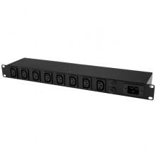 PDU08C13H Распределитель питания StarTech 8-Port Rack-Mount PDU with C13 Outlets - 16 A - 3m Power Cord (NEMA5-20p) - 1U
