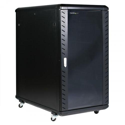 RK2236BKF Серверный шкаф Startech 22U 36in Knock-Down Server Rack Cabinet with Casters