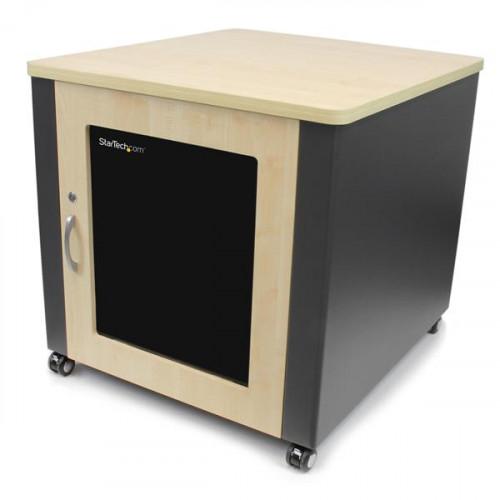 RKQMCAB12 Серверный шкаф Startech 12U Rack Enclosure Server Cabinet - 21.5 in. Deep - Soundproof - Wood Finish