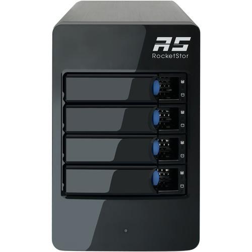 ROCKETSTOR 6314B Дисковое хранилище HighPoint RocketStor 6314B 4-Bay Thunderbolt 2 RAID Enclosure with Thunderbolt 3 Adapter
