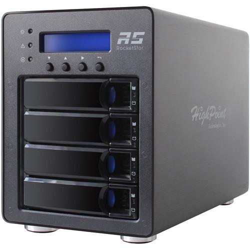 RS6124V Дисковое хранилище HighPoint RocketStor 6124V 4-Bay USB 3.1 Gen 2 RAID Enclosure