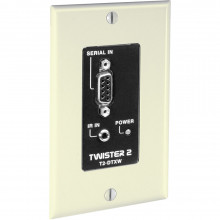 T2-DTXW-IVO передатчик видеосигнала FSR IR/Data Transmitter w/Wall Plate (Ivory)