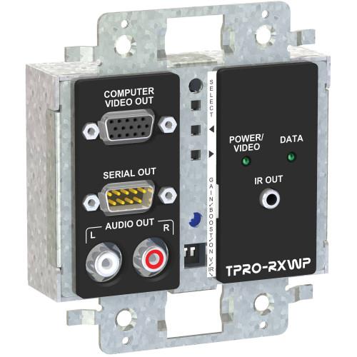 TPRO-RXWPD-BLK приемник видеосигнала FSR 2-Gang Wall Plate Receiver (Black)