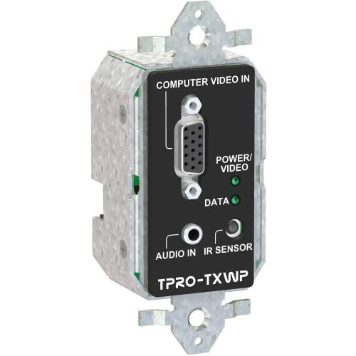 TPRO-TXWP-BLK передатчик видеосигнала FSR 1-Gang Wall Plate Transmitter (Black)