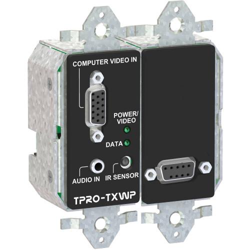 TPRO-TXWPD-BLK передатчик видеосигнала FSR 2-Gang Wall Plate Transmitter (Black)