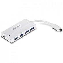 4-портовый концентратор USB-C to 4-Port USB 3.0 с питанием TRENDnet TUC-H4E2